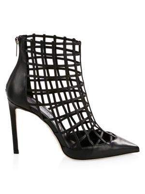 Sheldon Leather Cage Heels
