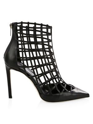 JIMMY CHOO Sheldon Leather Cage Heels