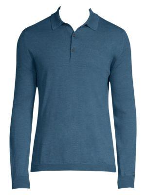 Long-Sleeve Cotton Polo