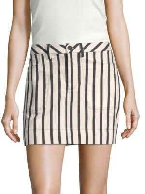 Gail Striped Mini Skirt