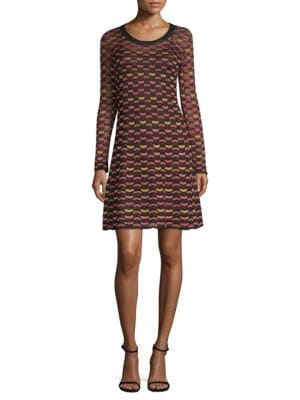 Abito Print A-Line Dress