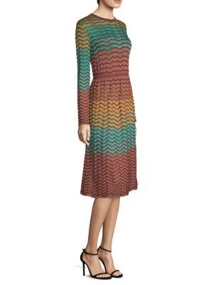 Abito Multicolor A Line Lurex Dress by M Missoni