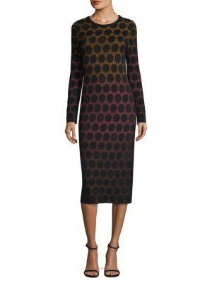 Dot Knit Midi Dress