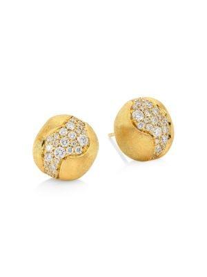 Africa Constellation 18K Gold & Diamond Stud Earrings