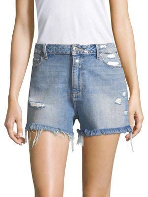 Babes Distressed Denim Shorts