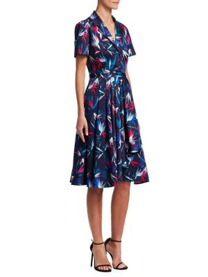 Printed Convertible A-Line Dress