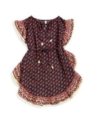 Girl's Jaya Ruffle Kaftan Dress