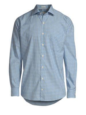 Crown Finish Grimsey Check Cotton Shirt