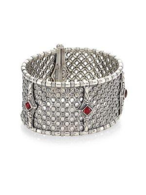 Sterling Silver Rhodolite Bracelet
