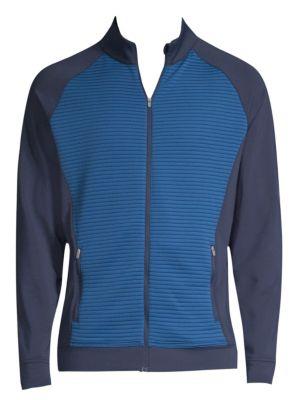 PETER MILLAR Channel Corded Zip-Up Sweatshirt