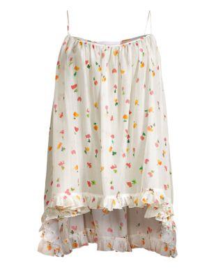 Ruffle Floral Tunic