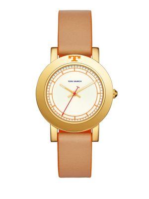 Ellsworth Luggage Leather-Strap Watch