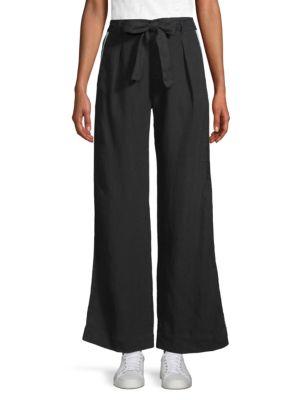 BELLA DAHL | Wide-Leg Linen Pants | Goxip