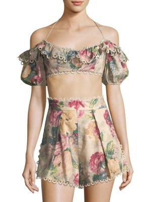 Melody Off-The-Shoulder Cropped Top