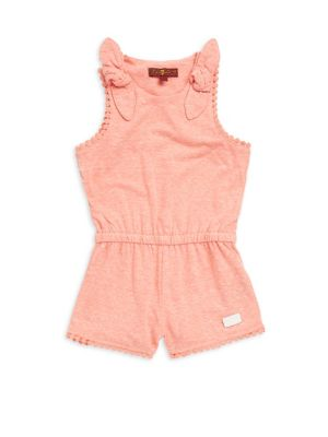 Little Girl's & Girl's Bow Tie Sleeveless Romper