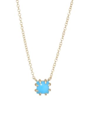 ILA Turquoise & 14K Yellow Gold Pendant Necklace