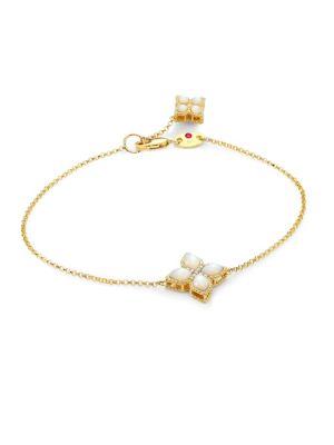 Venetian Princess Diamonds, Mother-of-Pearl & 18K Yellow Gold Bracelet