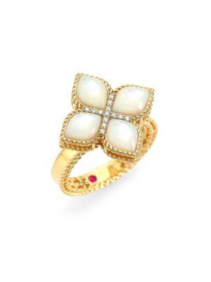 Venetian Princess 18K Yellow Gold, Mother-of-Pearl & Diamond Ring
