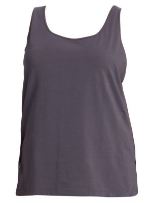 NIC+ZOE PLUS Perfect Scoop Neck Tank in Ink