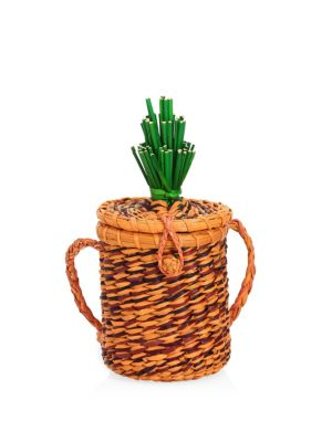 PITUSA | Pineapple Straw Crossbody Bag | Goxip
