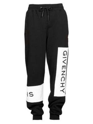Men'S Large Logo Basic Felpa Jogger Pants, Black