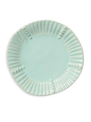 Incanto Stone Aqua Stripe Salad Plate