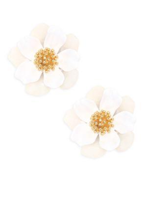 Floral Mosaic Stud Earrings