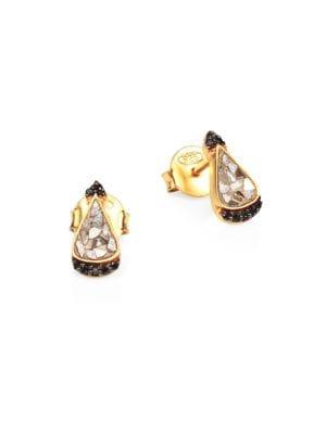 Palo 18K Gold, Diamond & Vermeil Stud Earrings
