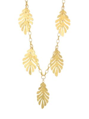 Statement Leaf Necklace