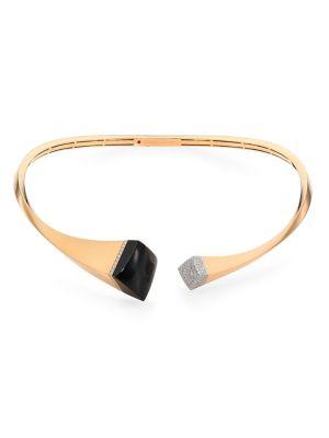 ROBERTO COIN Sauvage Prive 18K Yellow Gold & Diamond Collar Necklace