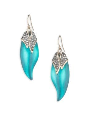 Love Bird Capped Feather Earrings