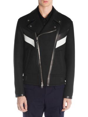 NEIL BARRETT Chevron Moto Jacket