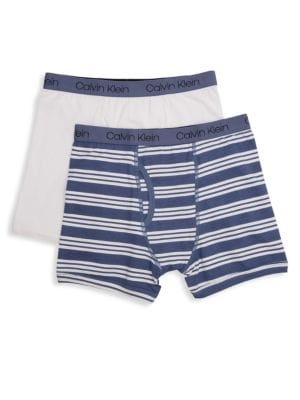 Stripe Stretch Cotton Boxer Briefs/Pack of 2