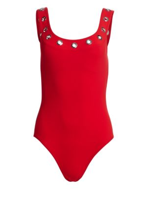 KARLA COLLETTO SWIM Viviana Grommet Swimsuit