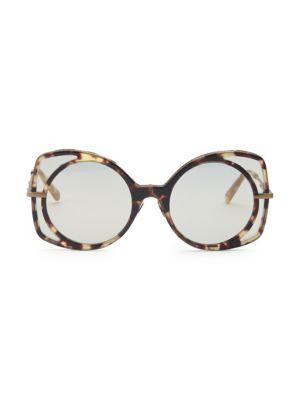 51MM Round Square Sunglasses