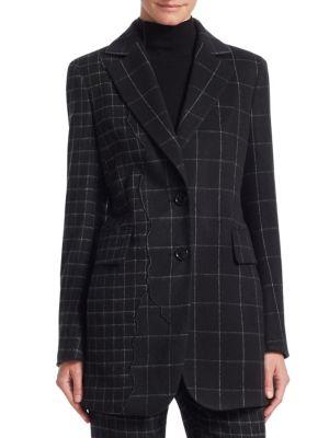 Selia Patchwork Check Jacket
