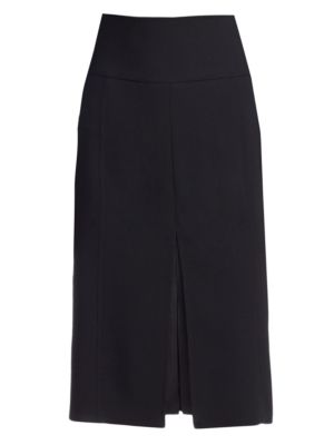 Slit-Front Pencil Skirt