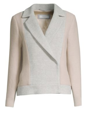 Wool-Blend Double-Breasted Jacket