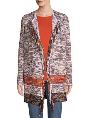 Tweed Fringe Cardigan