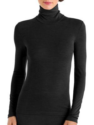 Wool & Silk Turtleneck Pullover