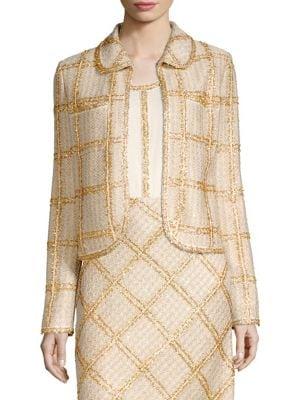 Checkered Tweed Jacket