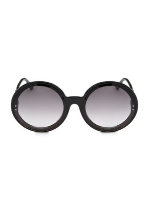 61MM Oversized Round Frame Sunglasses