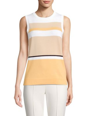 Striped Wool Shell Top