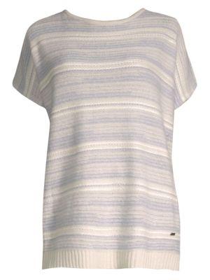 Striped V-Back Sweater