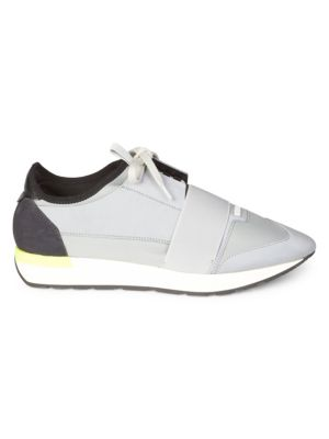 BALENCIAGA Race Runner Leather & Mesh Sneakers