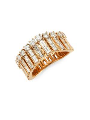 Diamond & Gold Ava Wave Ring