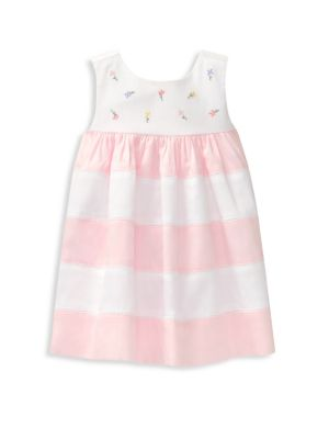 Baby's Embroidered Striped Dress
