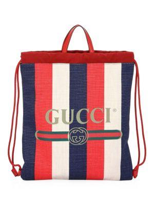 Sylvie Logo Print Drawstring Backpack