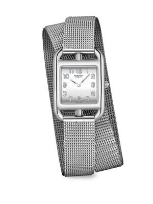 HERMES Cape Cod Stainless Steel Bracelet Watch