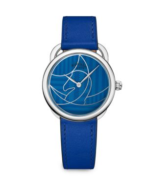 HERMES Arceau Stainless Steel & Leather Watch